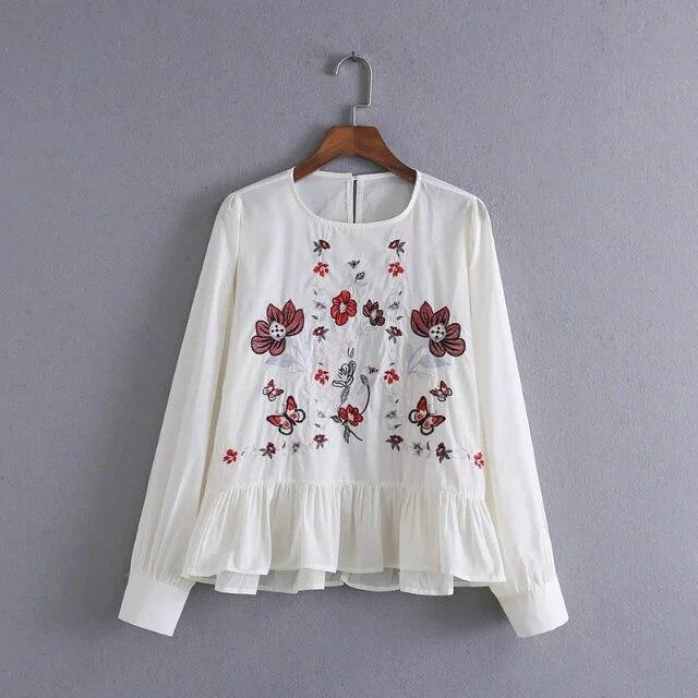 Victorian Style Corset Cover Cotton White Peasant Blouse Sizes S M L