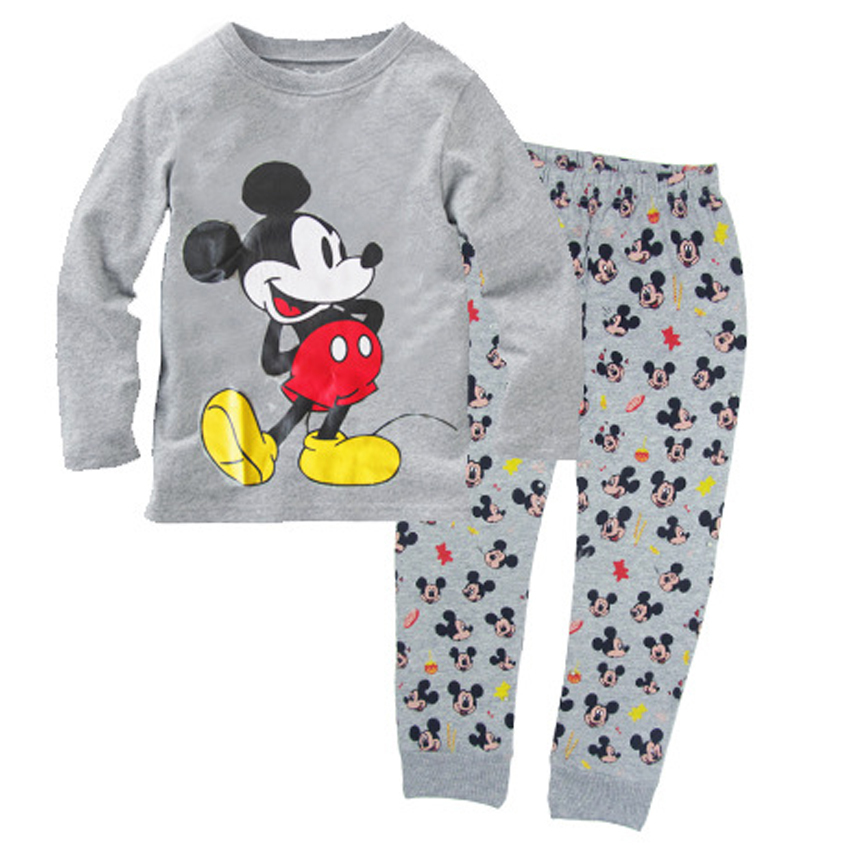 Childrens Clothing Set Girls Minnie Mouse 2-Piece Pajama Set Childrens Pajamas Suit Sleepwear cotton Long Sleeve Shirts+pants