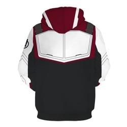 Marvel The Avengers 4 Endgame Quantum Realm Cosplay Costume Hoodies Men Hooded Avengers Zipper End Game Sweatshirt Jacket 2