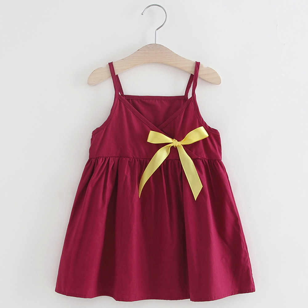d03f4096ff4e5 ISHOWTIENDA Toddler Girls Summer Princess Kids Baby Party Wedding  Sleeveless Dress Soft and comfortable Girl dress Vestido@2