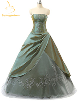 2019 New In Stock Cheap Sweetheart Taffeta Quinceanera Dresses Ball Gown Embroidery Beaded Floor Length Sweet 16 Dresses QA984
