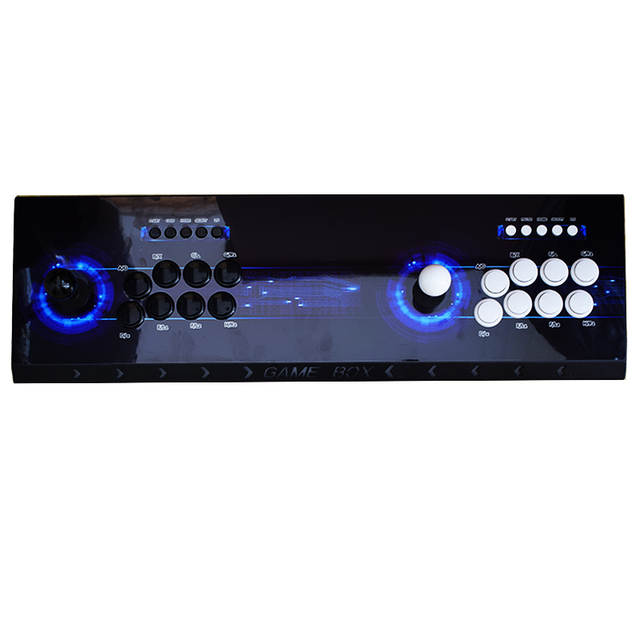 US $136 79 43% OFF|Pandora's Box 6 Arcade Console 1300 in 1 Copy Sanwa  Joystick 8 Button Led Tube 2 Player Controller Retro 3D Games Arcade-in  Coin