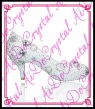 Aidocrystal elegante Kundenspezifische Handmade Low Heel Damen Schuhe Hochzeit mit weißen perlen