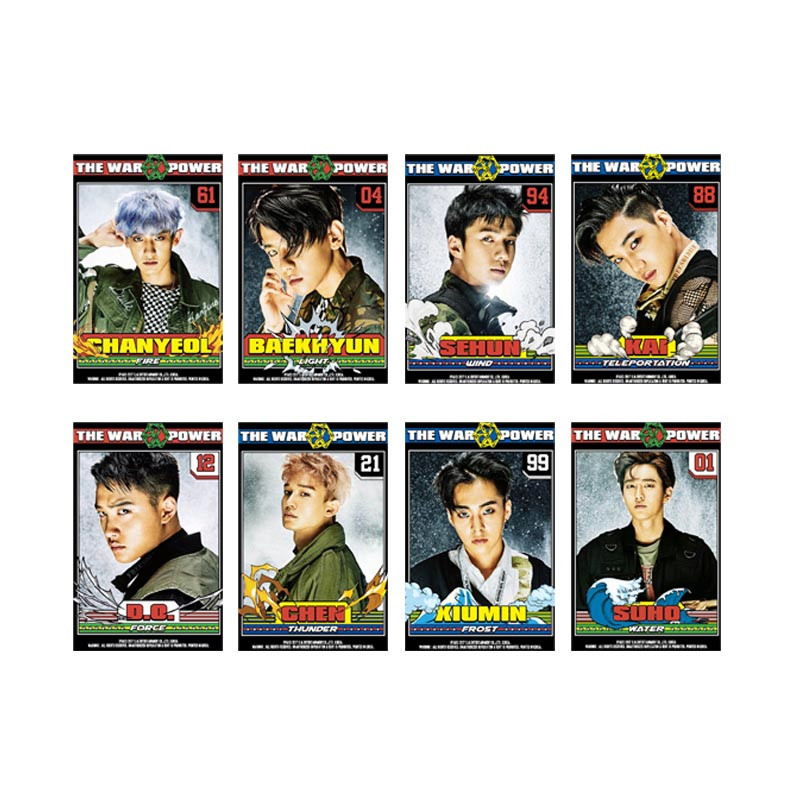 Kpop Exo K M Exact Lotto Plant 3 Exact Album Self Made Paper Cards K-pop Signature Lomo Photo Card Photocard Jewelry Findings & Components