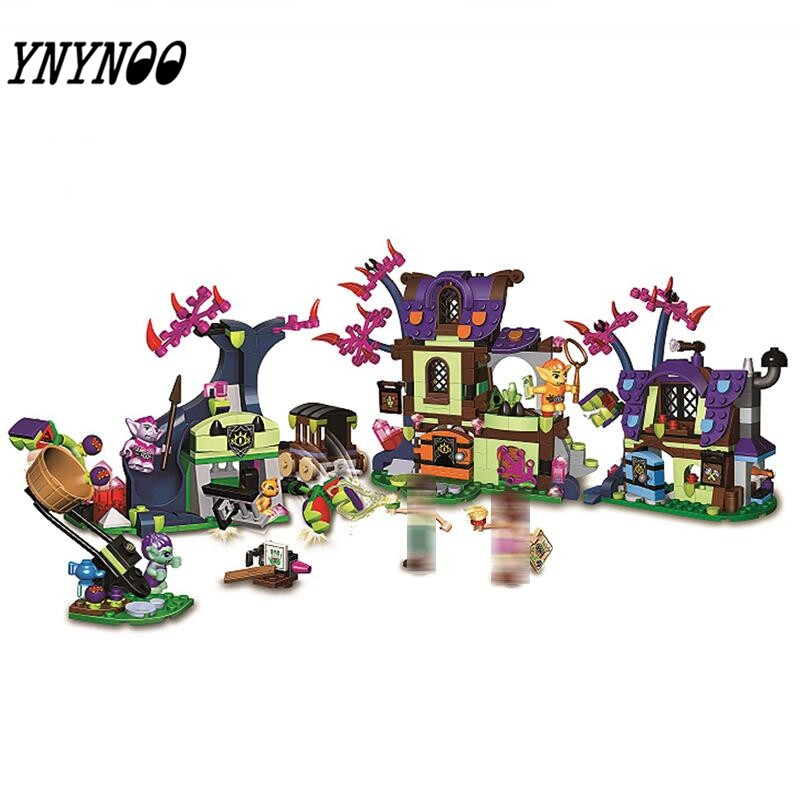 New 10698 Elves 646 Pcs Magic Rescue from the Goblin Village Building Blocks kids Bricks toys Christmas Gift 41185 for Girls the rescue