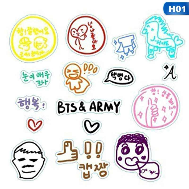 Detail Feedback Questions About 2018 Hot Bts Stickers Fashion Diy