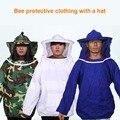 Bienenzucht Jacke Smock Schutzhülle Protector Bee Halten Hut Sleeve Atmungs Ausrüstung LBShipping