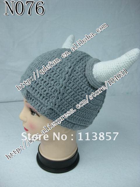 Envío gratis ( 20 / lot ) 100% algodón bebé sombrero de Viking ...