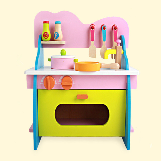 Wooden Toy Kitchen Discount Cabinets Jacksonville Fl Colorful Baby Toys Set Children Pretend Play Simulate Gift