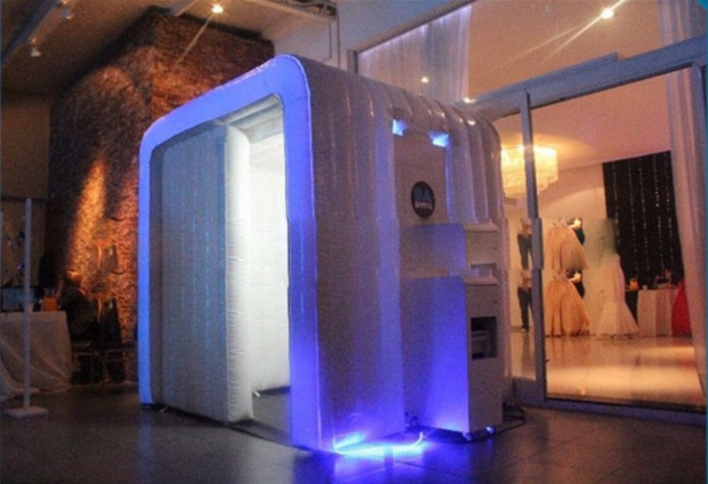 Party decoration rentals reviews online shopping party new style indoor and outdoor rental inflatable photo booth for wedding decoration with left door junglespirit Images