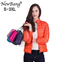 New Bang Women S Down Coat Stand Collar Ultra Light Down Jacket Female Windbreaker Thin Feather