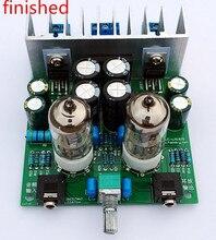 Bitmiş HIFI 6J1 tüp amplifikatör kulaklıklar amplifikatörler LM1875T güç amplifikatörü 30W