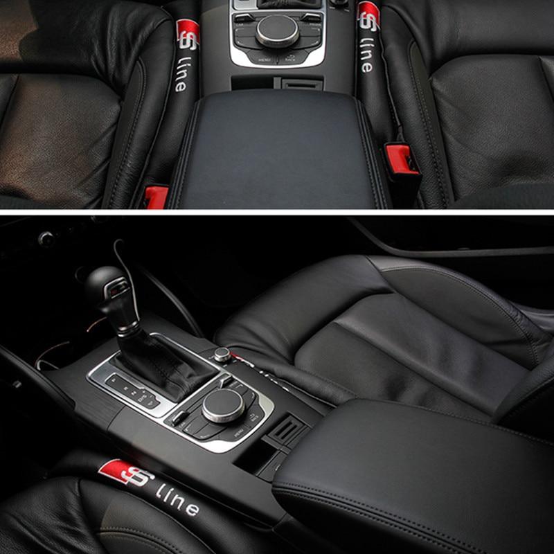 2x Car Styling Seat Gap Pad Fillers For Audi Sline Quattro A3 A4 A5 A6 A8 C5 B5 B6 B7 B8 C6 Q3 Q5 Q7 A3 A1 R8 TT R8 RS 80 100 2pcs led logo door courtesy projector shadow light for audi a3 a4 b5 b6 b7 b8 a6 c5 c6 q5 a5 tt q7 a4l 80 a1 a7 r8 a6l q3 a8 a8l