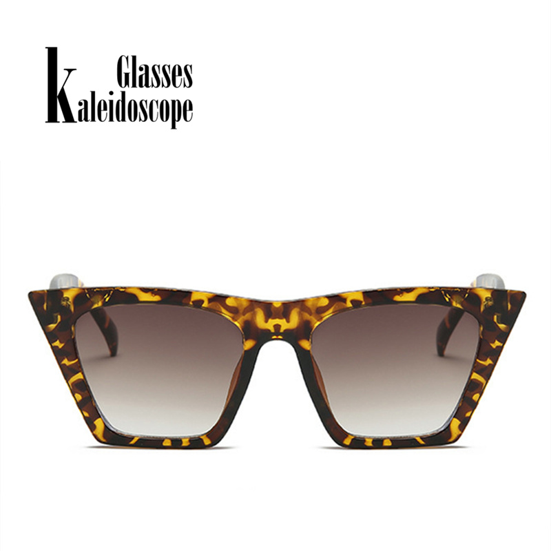Kaleidoscope Glasses Flat top Cat eye Sunglasses Women Brand Retro Sunglass Man Rectangle Eyewear Female Goggles Sun Glasses
