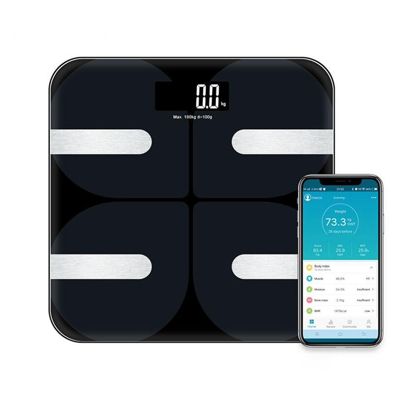 Elektroniczny LCD łazienka waga waga inteligentny cyfrowy skala tkanki tłuszczowej waga równowagi Bluetooth waga podłogowa podłączyć APP Android IOS w Waga łazienkowa od Dom i ogród na AliExpress - 11.11_Double 11Singles' Day 1