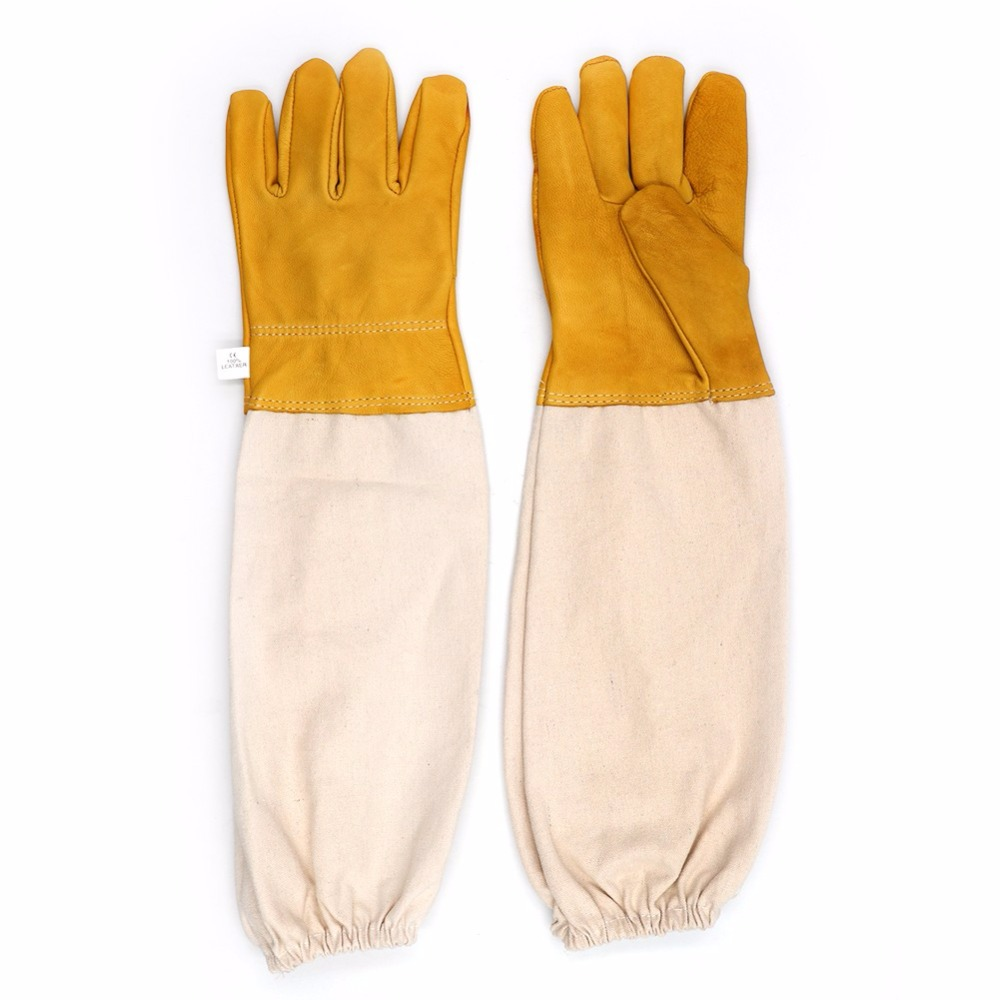 Beekeeper Prevent Gloves Protective Sleeves ventilated Professional Bee for Apiculture Beekeeper beehive Beekeeping xm0587