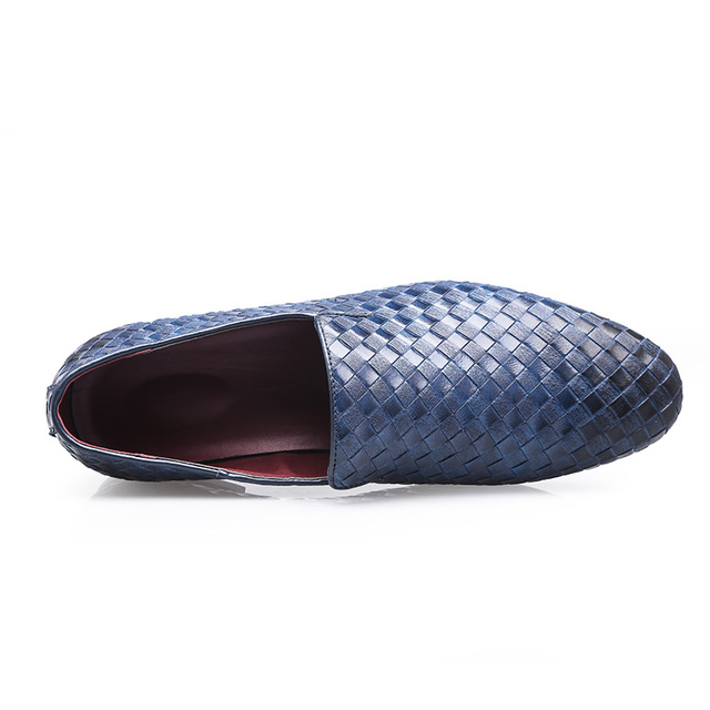 Trendy Braid Leather Casual Shoes for Men