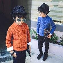 Специальные детские одежда каждый день мальчик свитера прилив 2016 новых зимней одежды Хан издание утолщение круглый воротник линии