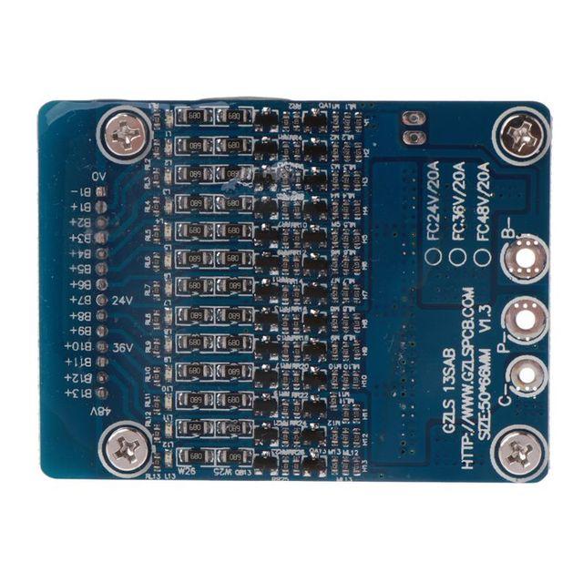 Литий ионный аккумулятор 20A 18650 Защита аккумулятора BMS печатная плата баланс 13S 48V