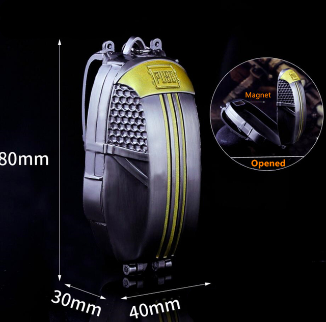 US $14 29 |Cool Metal Game Props Model Keychain Mini Parachute Backpack  Pendant Key Ring PUBG Playerunknown's Battlegrounds Collection Gift-in Key