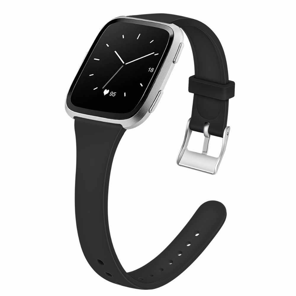 دوسزاكي لينة الفرقة ل Fitbit فيرسا حزام سيليكون استبدال الرياضة سوار ساعة ذكية أسورة يد حزام ل Fitbit فيرسا النساء
