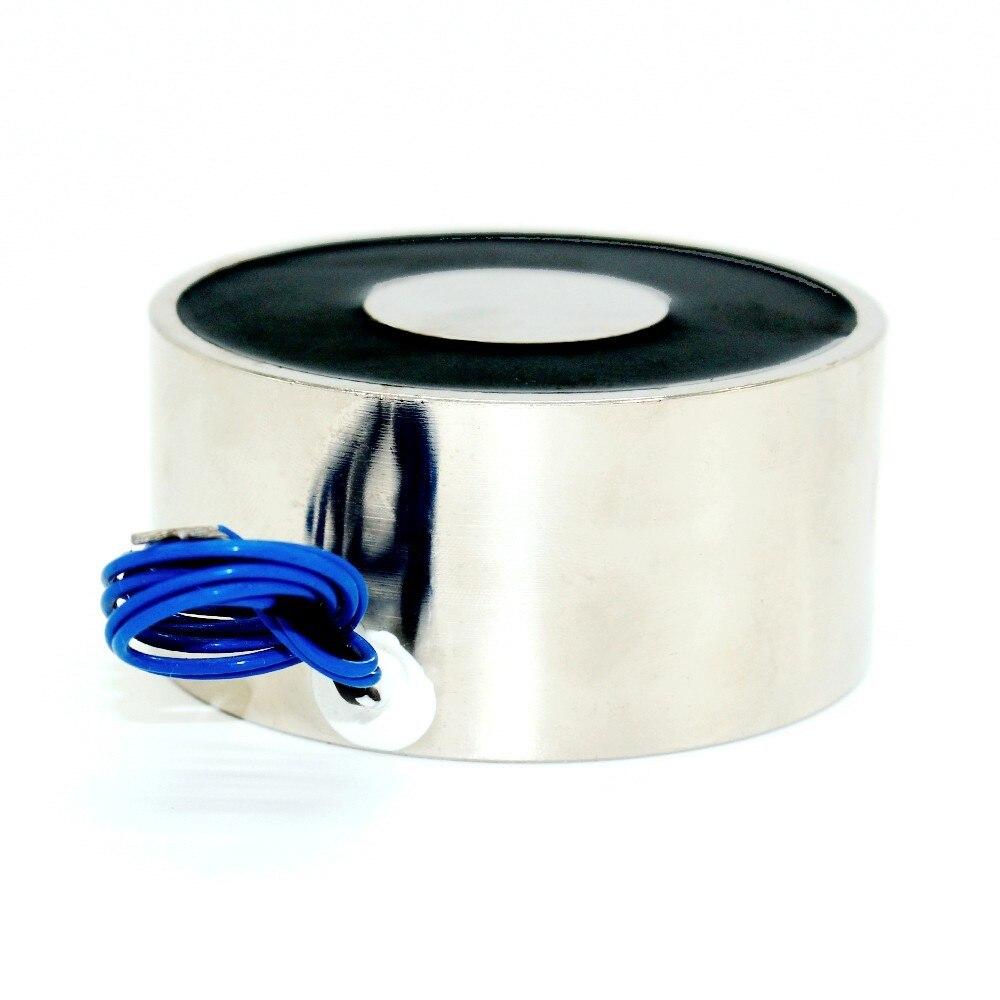 Electromagnet 1500N DC 12V Holding Electromagnet Lift Magnet Electric Motor