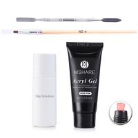 MSHARE 60ml PolyGel Kits Professional Nail Enhancement Pink Clear French White Nails Poly Gel Slip Solution