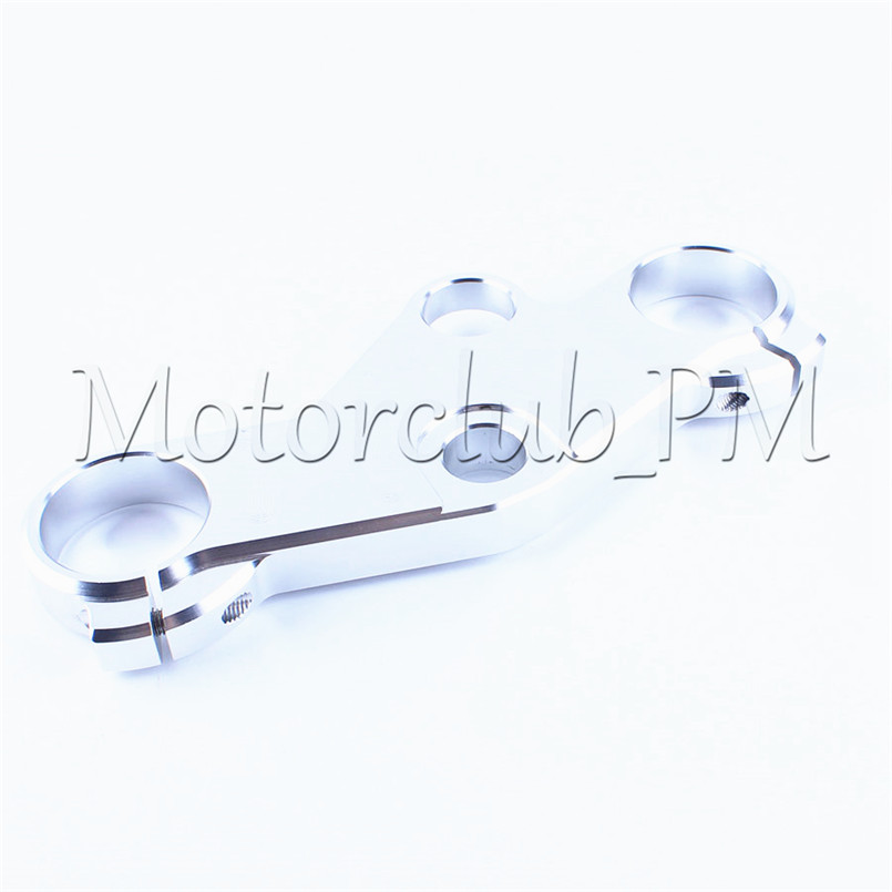 CNC Front Top Clamp Triple Tree End Upper Top Clamp For Suzuki GSXR600/750 2001-2003 2002 GSXR1000 2001-2002 Silver