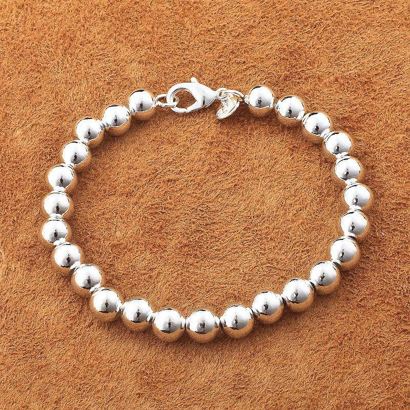 Venta al por mayor moda de buena calidad de plata joyería de plata de malla/acera/Corazón de Plata de Ley 925 joyería de diseño pulsera de plata A75