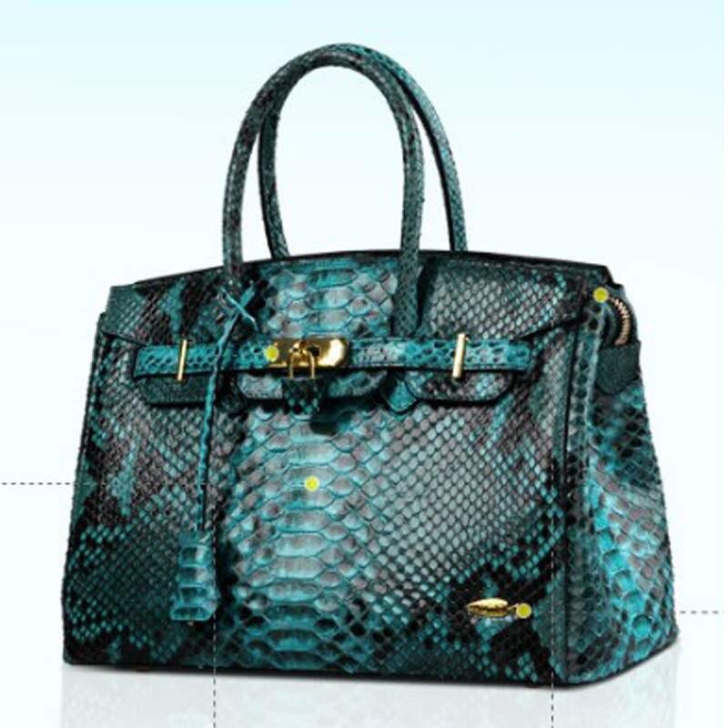 Yuanyu nouveau sac femme peau de python en cuir véritable importation peau de serpent sac femme sac à main grain de serpent grand sac à main porter un sac