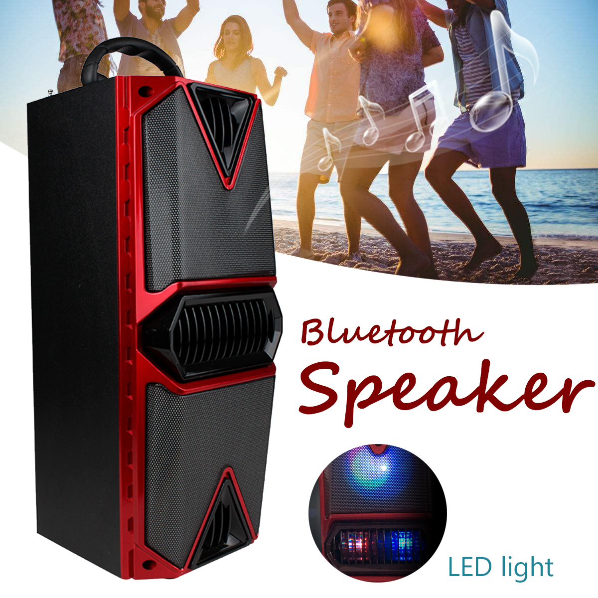 Wireless Bluetooth Speaker Portable Handheld Speaker Car Mounted Square Dancing Loudspeaker Sound System Outdoor Stereo Music tronsmart element t6 mini bluetooth speaker portable wireless speaker with 360 degree stereo sound for ios android xiaomi player