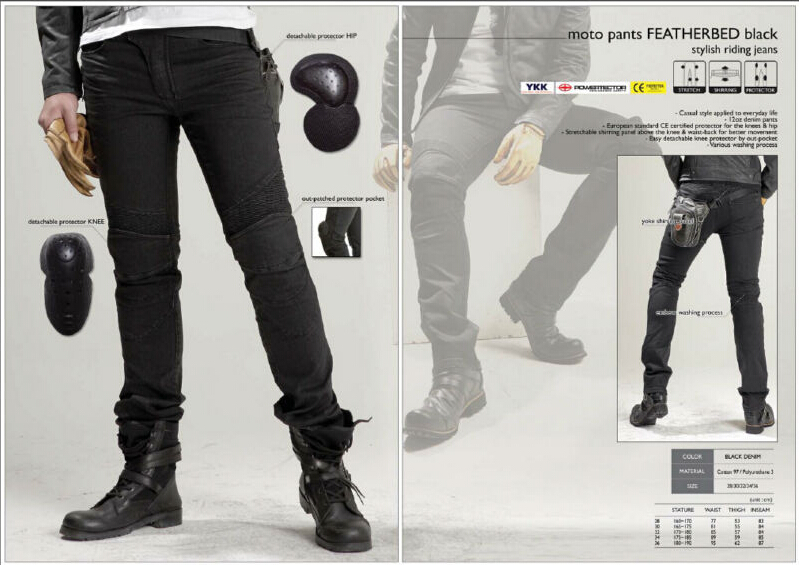 Newest Cool uglyBROS Featherbed black jeans The standard version car ride jeans trousers Motorcycle jeans Drop
