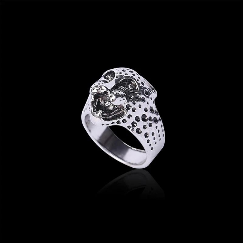 Punk Ring Man Stainless Steel Ring Puma Titanium Ring Women BINQINGZI Brand Animal Head Personality Jewelry BR1107
