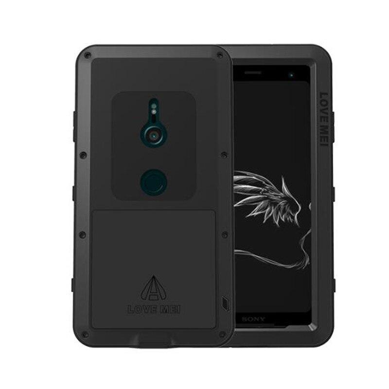 LOVE MEI boîtier en aluminium en métal pour Sony Xperia XZ3 housse puissante armure antichoc vie étui étanche pour Sony Xperia XZ3 Coque