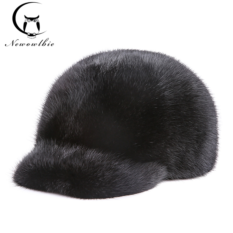Mink mink hats integral skin fur hats mink mink hat men's Baseball Cap Hat peaked cap Knight hm039 real genuine mink hat winter russian men s warm caps whole piece mink fur hats