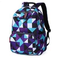 Waterproof Women Backpacks Geometric Printing Schoolbag teenager Girls Lady Fashion Travel Back Pack laptop backpacks Book Bag