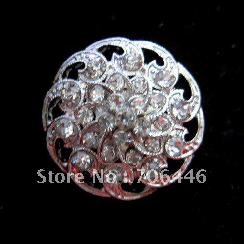 Серебристый горный хрусталь кристалл булавка брошь для свадебного приглашения