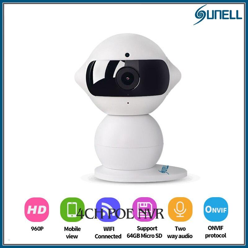 ФОТО Sunell IP camera  IR 960P mini Robot WIFI camera  AP network security camera Baby Monitor camera Motion detection alarm Remotely