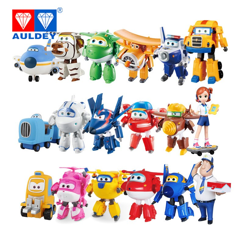 18pcs/set Big 15cm Super Wings High Quality Original TODD PAUL JEROME DONNIE ASTRA MIRA Deformation Action Figures Toys newest 18pcs set super wings mini figures toys superwings jett airplane robot action figures birthday gift for kid brinquedos