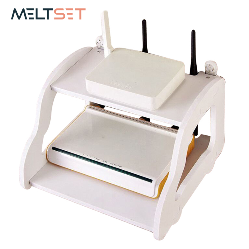 Router Holder Storage Rack DIY Multifunction Phone Router Storage Box Wall Decoration Accessories