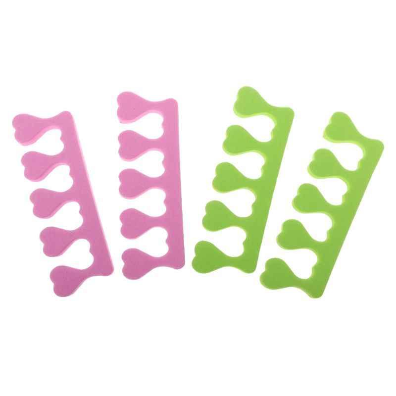 2 قطعة تو فواصل اصبع القدم الإسفنج لينة هلام الأشعة فوق البنفسجية صالون البولندية مانيكير