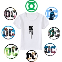 Printing Justice League Cartoon pattern pattern Modal Kidswear Boy/girl Summer T-shirt Short Sleeve White Lovely Kid Clothes dc comics justice league the flash graphics printed summer round neck short sleeve t shirt blended sweat absorbing fitness shirt