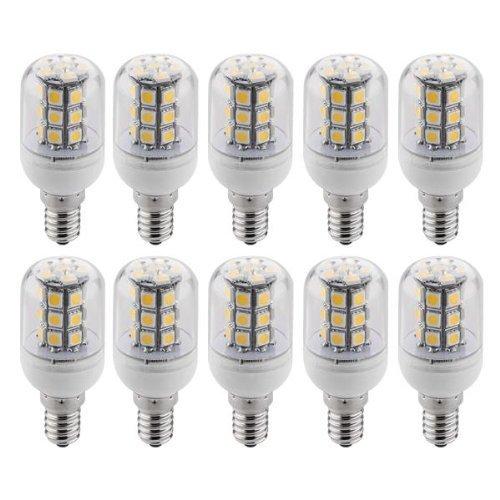10 X E14 ампулы лампе пятно света 5050 SMD 27 светодиодов теплого белого света 3600 K 300LM