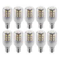 10 X E14 Ampoule Lampe Spot 5050 SMD 27 LEDs Blanc Chaud 3600K 300LM