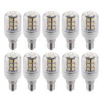10 x e14 ampul lampe spot 5050 smd 27 leds blanc chaud 3600 k 300LM