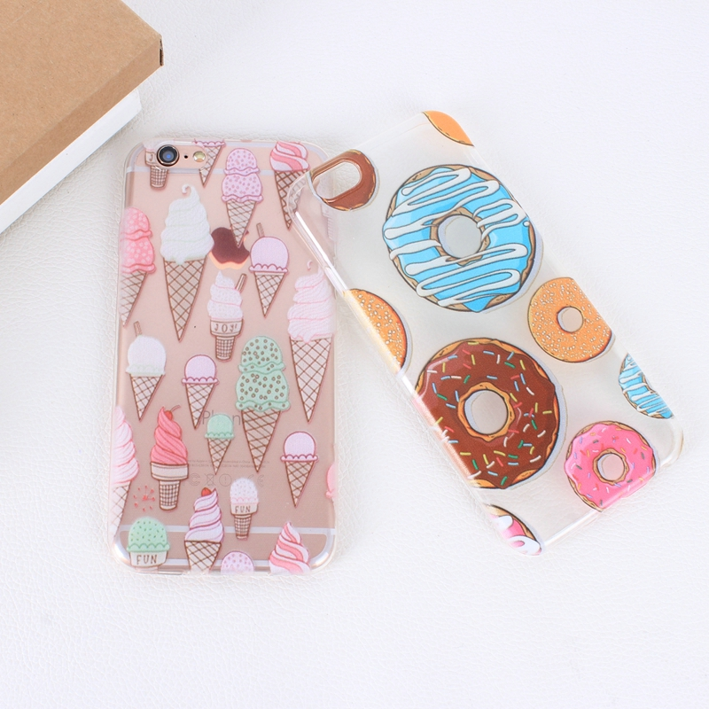 Color Macarons cake Design Fashion soft TPU Phone Cases For iPhone 6 6s TPU Fundas Cover for iPhone SE 5 5s 5G phone bags (4)