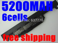5200 mah 6 células nova bateria do portátil para asus a45 a55 a75 K45 K55 K75 R400 R500 R700 U57 X45 X55 X75 Series, A32-K55 A41-K55