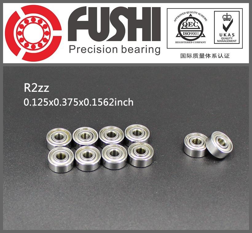 R2ZZ Bearing ABEC-1 (10PCS) 1/8x3/8x5/32 Inch Miniature R2 ZZ Ball Bearings For RC Models 1pcs 71822 71822cd p4 7822 110x140x16 mochu thin walled miniature angular contact bearings speed spindle bearings cnc abec 7