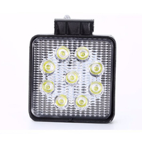 Off Road 27w Led Work Lights 4 Inch Square Round Engineering Car Spotlights Forklift Car Maintenance
