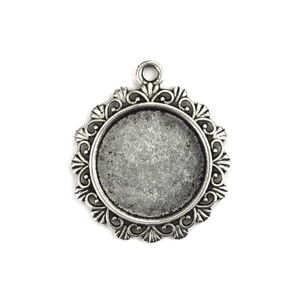 10pcs tibetan silver color tear shaped cabochon setting drop EF2298